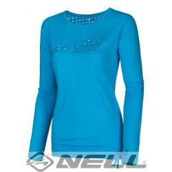 Dámské tričko s dlouhým rukávem NELL DANYA W14004, modrá