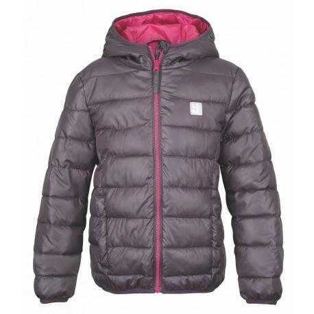 dětská zimní prošívaná bunda loap bernice šedé barvy