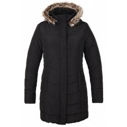 Loap TAFETA dámský zimní kabát, černý