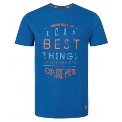 Loap BADRU pánské triko, modré M39M