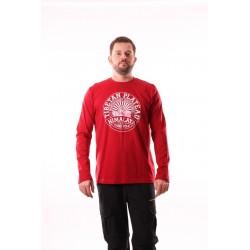 Pánské tričko dlouhý rukáv NorthFinder TR-3045OR, červená