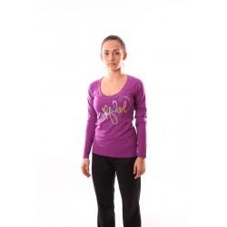 Dámské tričko dlouhý rukáv NorthFinder TR-4049SIII, fialová