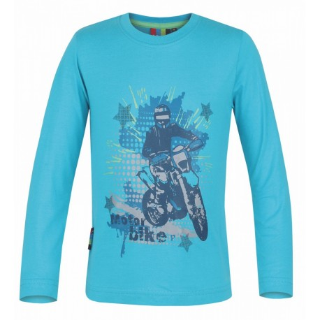 Dětské triko s dlouhým rukávem Loap IVO, modrá