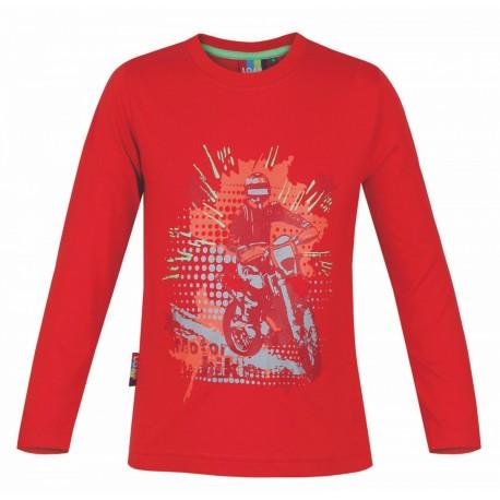Dětské triko s dlouhým rukávem Loap IVO, červená