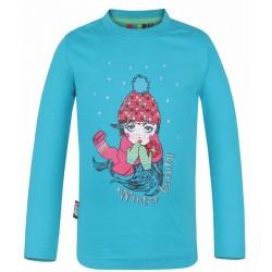 Dětské triko s dlouhým rukávem Loap INGRID, modrá