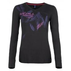Loap BAMBOO triko dámské dlouhý rukáv, černá