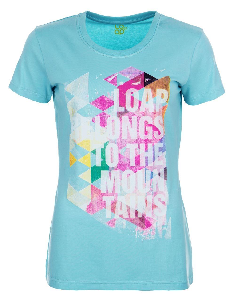 36aa4d7acd35 dámské modré tričko s krátkým rukávem loap anilina