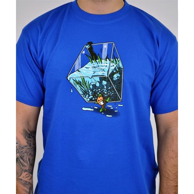 pánské triko bastard migrující rybka modrá barva 4e72609f12