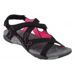 Loap JUNE dámské sandály černá/růžová
