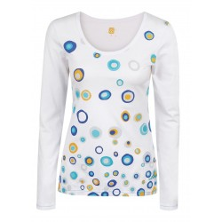 Loap BADU dámské triko dlouhý rukáv, bílé