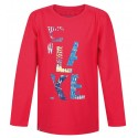 Loap INDIE dětské triko dlouhý rukáv, růžové
