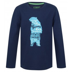 Loap IBSEN dětské triko dlouhý rukáv, modré