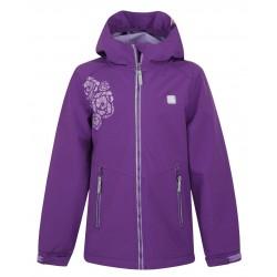 Loap CASIUS dětská softshellová bunda, fialová