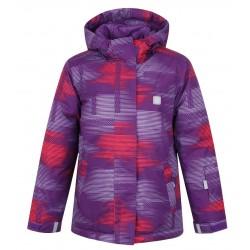 Loap ZELMA dětská lyžařská bunda, růžová/fialová