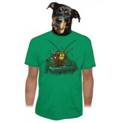 DJ cvrček, pánské triko BASTARD, zelená