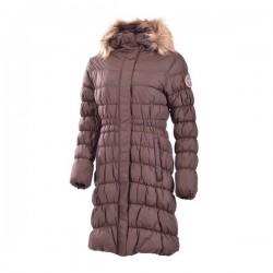 Dámský zimní kabát SAVANNAH BU-4236SI, hnědá