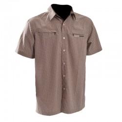 Pánská košile DIEGO NORTHFINDER KO-3015OR, šedohnědá