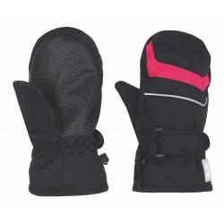 Laop NICO, dětské lyžařské rukavice černá/růžová