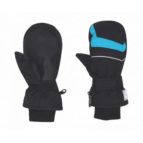 Loap NICO, dětské lyžařské rukavice, černá/modrá