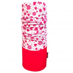 Multifunkční šátek AMBER fleece, červená/růžová