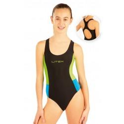 Dívčí sportovní jednodílné plavky Litex 88504
