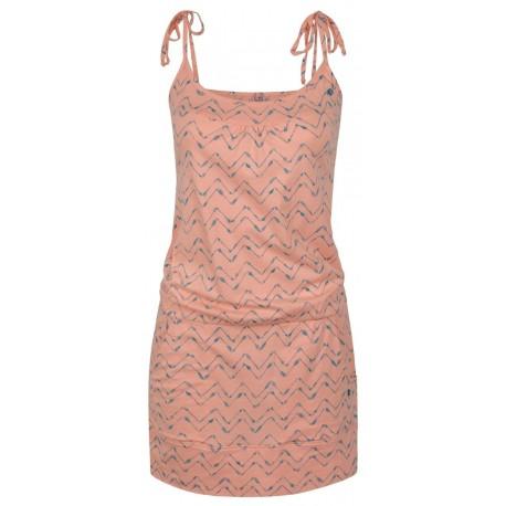 Loap ABA dámské šaty, oranžové/lososové E48X