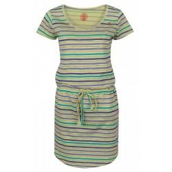 Loap ASHY dámské šaty, žluté pruhy C65X