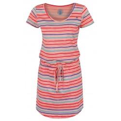 Loap ASHY dámské šaty, oranžové pruhy E48X