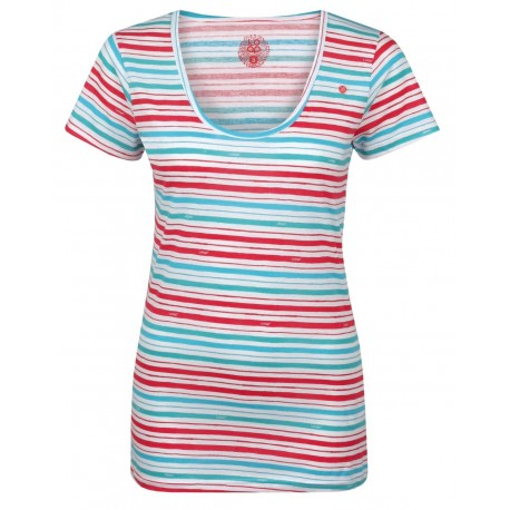 Loap AGENDA dámské triko, bílá pruhy A25X