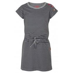 Loap IMBRA dívčí šaty, šedý pruh T52T
