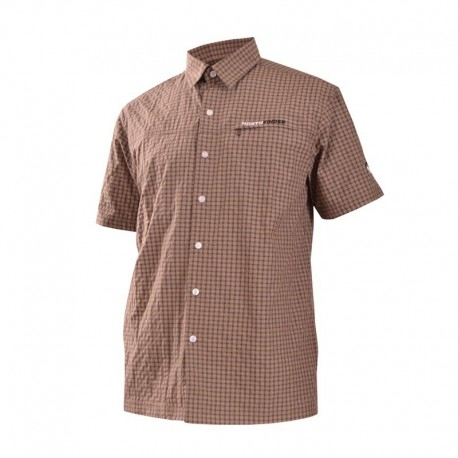 Northfinder KO-3020OR pánská košile, hnědá