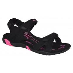 Loap CAFFA dámské sandále, černá/růžová