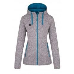 Loap GAPALA dámský svetr s kapucí, šedá T50X