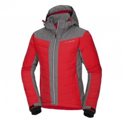 Pánská lyžařská bunda NORTHFINDER BU-3405SNW, červeno šedá