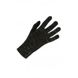 Litex dámské rukavice 51501, černá se zeleným leskem