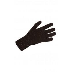 Litex dámské rukavice 51504, černá s růžovým leskem