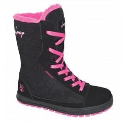 Loap ROSARIA dámská zimní obuv, černo růžová V11J