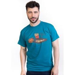 Krabičková dieta, pánské triko Bastard, modré