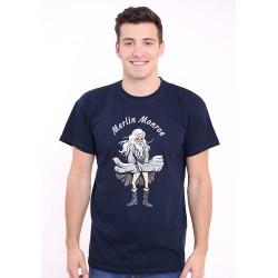 Merlin Monroe. pánské triko Bastard, modré