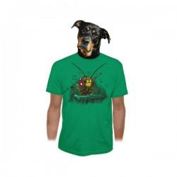 DJ cvrček, pánské triko Bastard, zelené