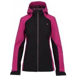 Loap LIBBI dámská softshellová bunda, černo/růžová V21J