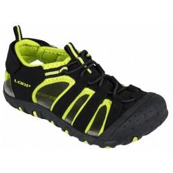 Loap DOPEY dětské sandály, černo zelené V11N