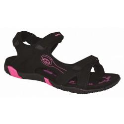 Loap CAFFA dámské sandále, černo růžová V11J
