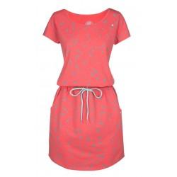 Loap AMBER dámské šaty, lososová J93X
