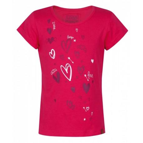 Loap IBISKA dívčí triko, růžová J33J