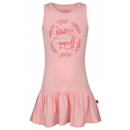Loap ITILINA dívčí šaty, světle růžová H02H