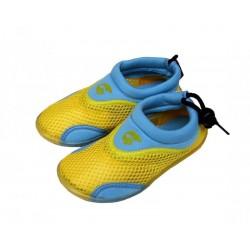 Neoprenové boty do vody ALBA dětské, žluto modrá