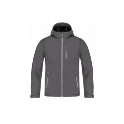 Loap LEITON pánská softshellová bunda, šedá T49X