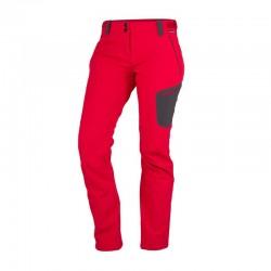 Dámské softshellové kalhoty NORTHFINDER NO-4443OR, červená