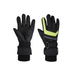 Dětské zimní rukavice Loap RENKO, černo zelená V21N